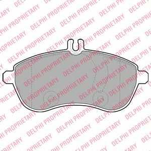 Колодки тормозные дисковые DELPHI LP2028 - изображение