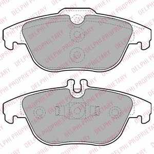 Колодки тормозные дисковые DELPHI LP2029 - изображение