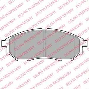 Колодки тормозные дисковые DELPHI LP2030 - изображение