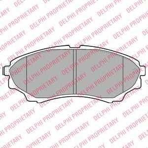 Колодки тормозные дисковые DELPHI LP2036 - изображение