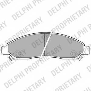 Колодки тормозные дисковые DELPHI LP2037 - изображение