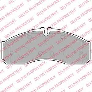 Колодки тормозные дисковые DELPHI LP2042 - изображение
