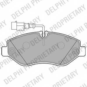 Колодки тормозные дисковые DELPHI LP2043 - изображение