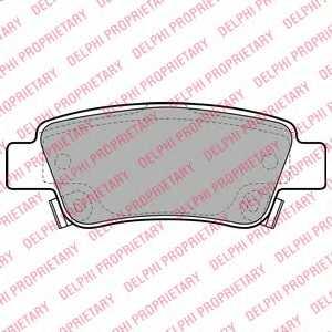 Колодки тормозные дисковые DELPHI LP2047 - изображение
