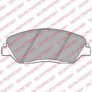 Колодки тормозные дисковые DELPHI LP2048 - изображение