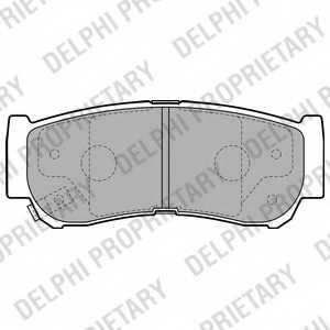 Колодки тормозные дисковые для HYUNDAI SANTA FE(CM) <b>DELPHI LP2049</b> - изображение