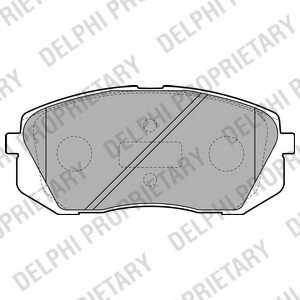Колодки тормозные дисковые DELPHI LP2050 - изображение