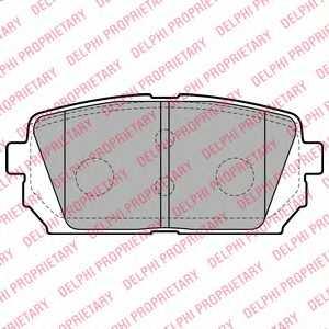 Колодки тормозные дисковые для KIA CARENS(FJ,UN) <b>DELPHI LP2051</b> - изображение