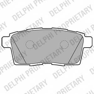 Колодки тормозные дисковые DELPHI LP2052 - изображение