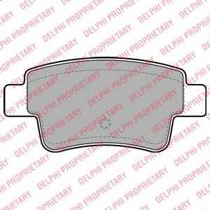 Колодки тормозные дисковые DELPHI LP2055 - изображение