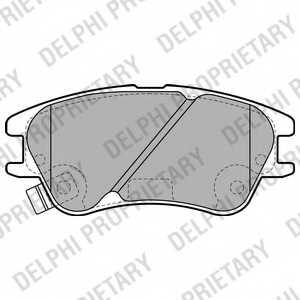 Колодки тормозные дисковые DELPHI LP2062 - изображение
