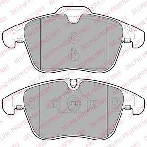 Колодки тормозные дисковые DELPHI LP2065 - изображение