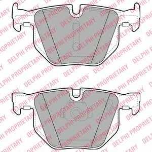 Колодки тормозные дисковые DELPHI LP2068 - изображение