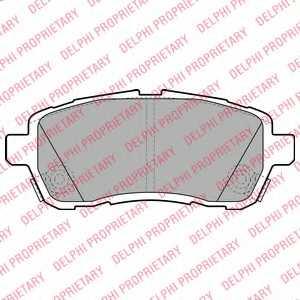 Колодки тормозные дисковые для DAIHATSU MATERIA(M4#) / FORD FIESTA / MAZDA 2(DE) / SUBARU JUSTY / SUZUKI SWIFT(FZ,NZ) <b>DELPHI LP2069</b> - изображение
