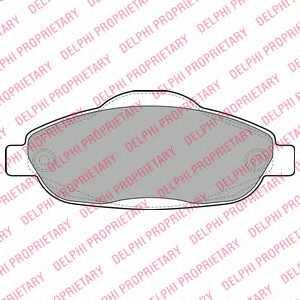 Колодки тормозные дисковые для PEUGEOT 3008, 308(4A#,4C#) <b>DELPHI LP2070</b> - изображение