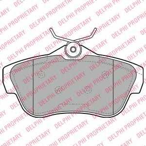 Колодки тормозные дисковые DELPHI LP2071 - изображение