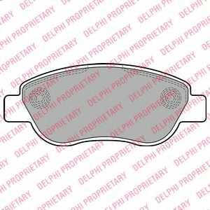 Колодки тормозные дисковые для RENAULT MEGANE(BM0/1#,CM0/1#,LM0/1#), SCENIC(JM0/1#) <b>DELPHI LP2075</b> - изображение