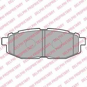 Колодки тормозные дисковые для SUBARU LEGACY(BM,BR), TRIBECA(B9) <b>DELPHI LP2076</b> - изображение