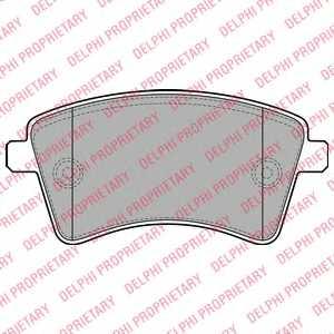 Колодки тормозные дисковые DELPHI LP2078 - изображение