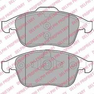 Колодки тормозные дисковые для RENAULT GRAND(JZ0/1#), LAGUNA(BT0/1, DT0/1, KG0/1#, KT0/1), SCENIC(JZ0/1#) <b>DELPHI LP2079</b> - изображение