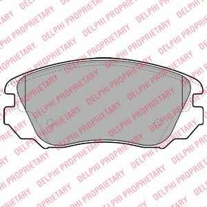 Колодки тормозные дисковые DELPHI LP2080 - изображение