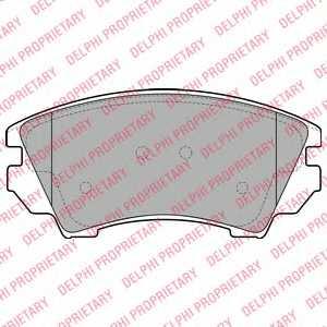Колодки тормозные дисковые DELPHI LP2081 - изображение
