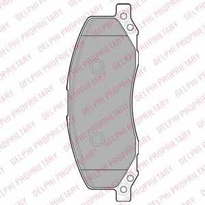 Колодки тормозные дисковые DELPHI LP2082 - изображение