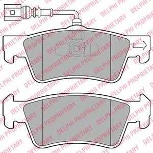 Колодки тормозные дисковые DELPHI LP2086 - изображение