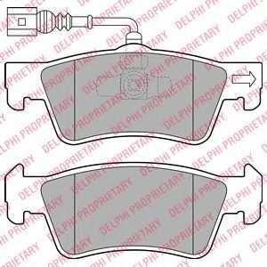 Колодки тормозные дисковые DELPHI LP2087 - изображение