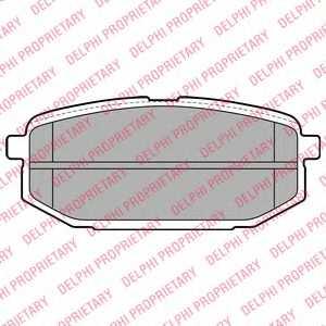 Колодки тормозные дисковые DELPHI LP2088 - изображение