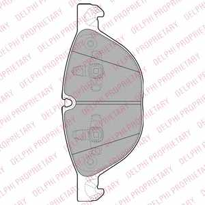Колодки тормозные дисковые DELPHI LP2091 - изображение