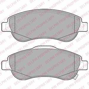Колодки тормозные дисковые DELPHI LP2093 - изображение