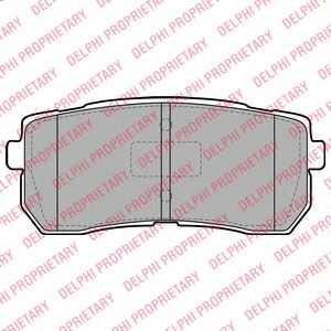 Колодки тормозные дисковые DELPHI LP2095 - изображение