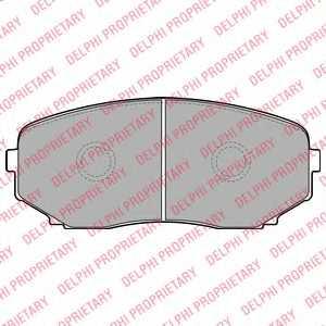 Колодки тормозные дисковые для MAZDA CX-7(ER), CX-9(TB) <b>DELPHI LP2098</b> - изображение