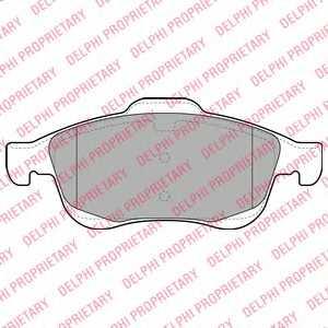 Колодки тормозные дисковые для CITROEN BERLINGO(B9), C4(B7,UA#,UD#), DS4 / PEUGEOT 5008, PARTNER <b>DELPHI LP2101</b> - изображение