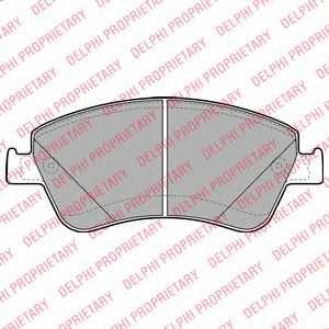 Колодки тормозные дисковые для TOYOTA AURIS(ADE15#, NDE15#, NRE15#, ZRE15#, ZZE15#), COROLLA(E15#) <b>DELPHI LP2102</b> - изображение