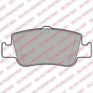 Колодки тормозные дисковые для TOYOTA AURIS(ADE15#, NDE15#, NRE15#, ZRE15#, ZZE15#), COROLLA(E15#), VERSO(#AUR2#, #ZGR2#) <b>DELPHI LP2103</b> - изображение