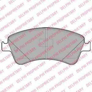 Колодки тормозные дисковые DELPHI LP2104 - изображение