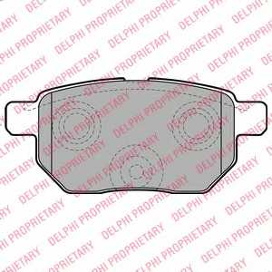 Колодки тормозные дисковые DELPHI LP2105 - изображение