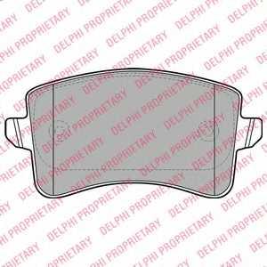 Колодки тормозные дисковые для AUDI A4(8K2,8K5,8KH,B8), A5(8F7,8T3,8TA), Q5(8R) <b>DELPHI LP2106</b> - изображение