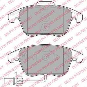 Колодки тормозные дисковые DELPHI LP2107 - изображение