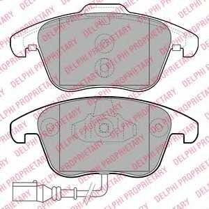 Колодки тормозные дисковые DELPHI LP2110 - изображение