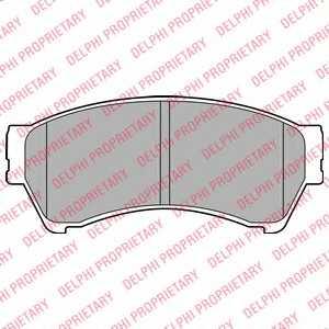 Колодки тормозные дисковые DELPHI LP2111 - изображение