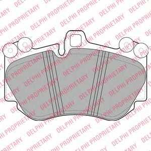 Колодки тормозные дисковые для PORSCHE CAYENNE(955,9PA) <b>DELPHI LP2116</b> - изображение