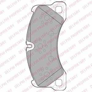 Колодки тормозные дисковые DELPHI LP2117 - изображение