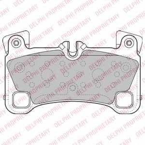 Колодки тормозные дисковые DELPHI LP2118 - изображение