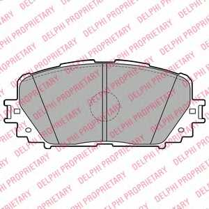 Колодки тормозные дисковые DELPHI LP2123 - изображение