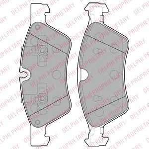 Колодки тормозные дисковые DELPHI LP2125 - изображение