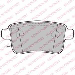 Колодки тормозные дисковые DELPHI LP2126 - изображение
