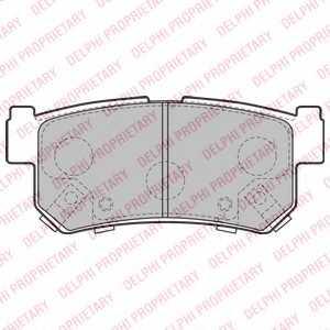 Колодки тормозные дисковые DELPHI LP2127 - изображение